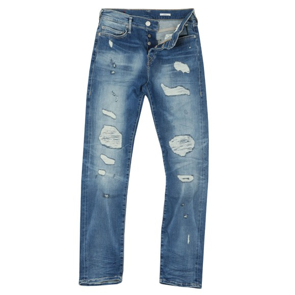 True Religion Mens Blue New Rocco Destroyed Jeans main image