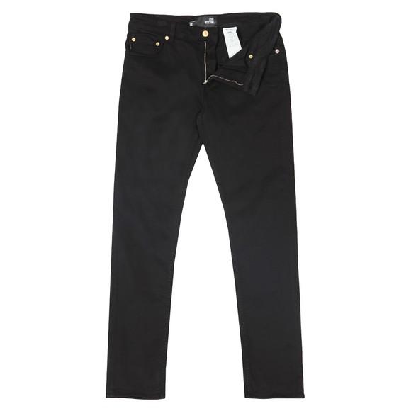 Love Moschino Mens Black Small Logo Jean