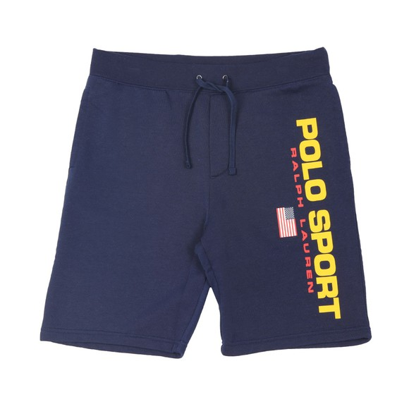Polo Sport Ralph Lauren Mens Blue Side Logo Jersey Short