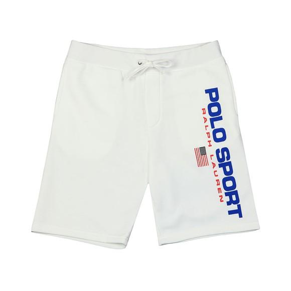 Polo Sport Ralph Lauren Mens White Side Logo Jersey Short