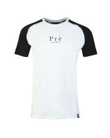 Pre London Mens White Prince Of Wales Raglan T Shirt