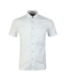Ted Baker Mens White S/S Small Triangle Shirt