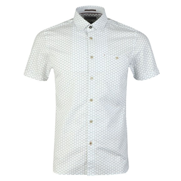 Ted Baker Mens White S/S Small Triangle Shirt main image