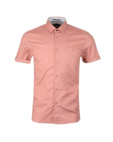 Ted Baker Mens Pink S/S Small Triangle Shirt