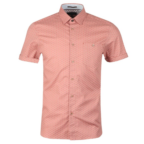 Ted Baker Mens Pink S/S Small Triangle Shirt main image