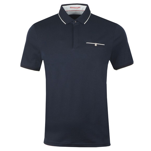 Ted Baker Mens Blue Fincham soft Polo main image