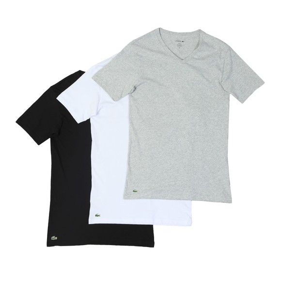 Lacoste Mens Multicoloured 3 Pack V Neck T-Shirts main image