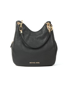 Michael Kors Womens Black Lillie Large Chain Shoulder Tote