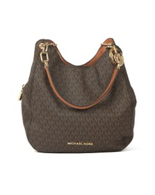 Michael Kors Womens Brown Lillie Large Chain Shoulder Tote