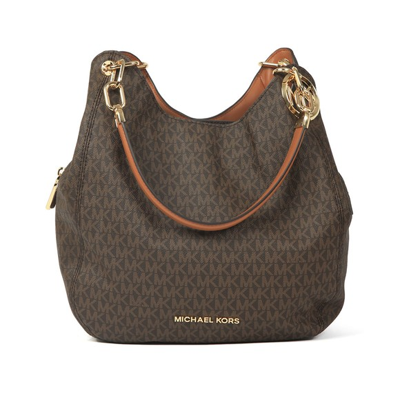 Michael Kors Womens Brown Lillie Large Chain Shoulder Tote main image