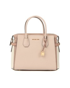 Michael Kors Womens Pink Mercer Pebbled Leather Satchel