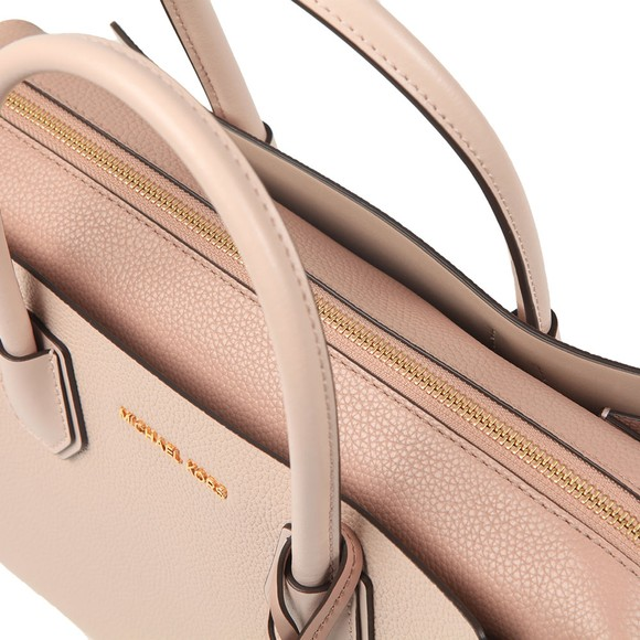 Michael Kors Womens Pink Mercer Pebbled Leather Satchel main image