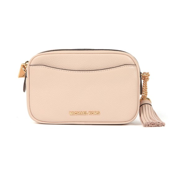 Michael Kors Womens Pink Crossbody Tassel Leather Bag main image