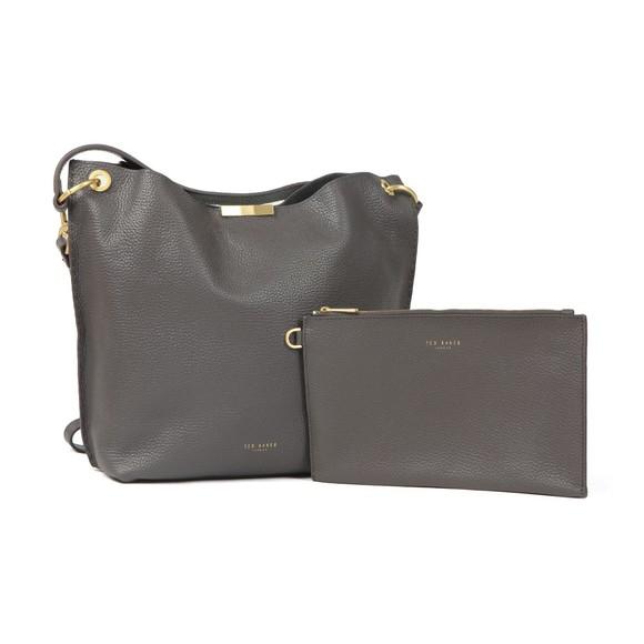 Ted Baker Womens Grey Candiee Soft Grain Handbag main image