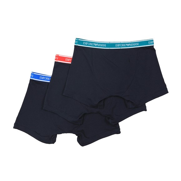 Emporio Armani Mens Blue 3 Pack Stretch Boxer main image