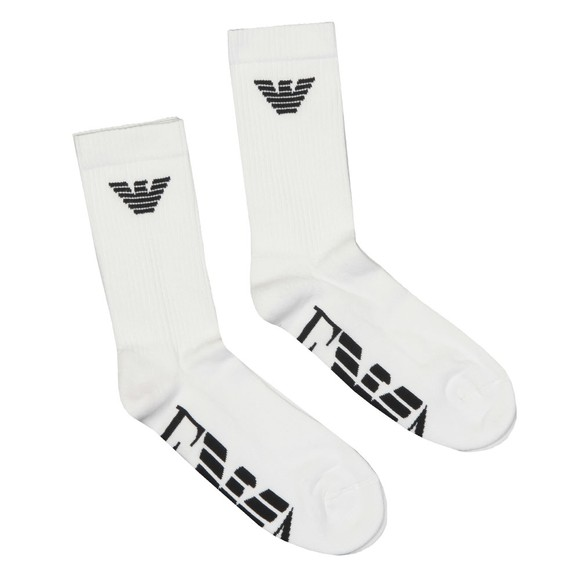 Emporio Armani Mens White 2 Pack Sock main image