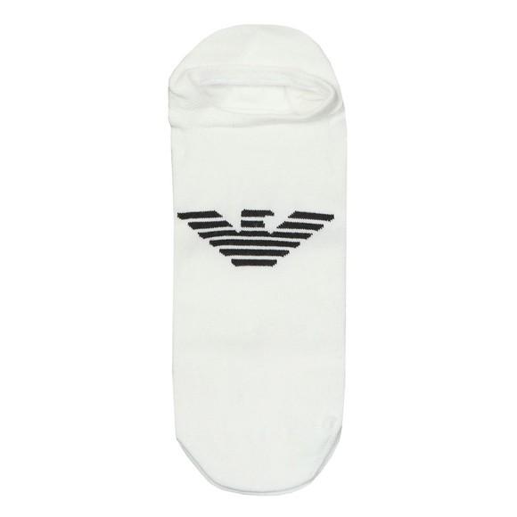 Emporio Armani Mens White Invisible Sock main image