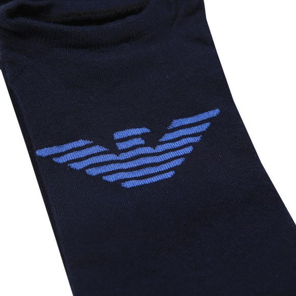 Emporio Armani Mens Blue Invisible Sock main image
