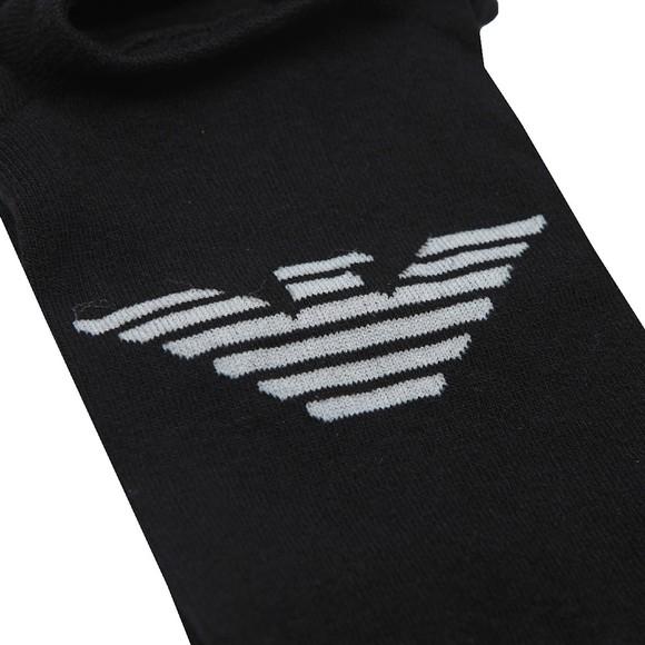 Emporio Armani Mens Black Invisible Sock main image