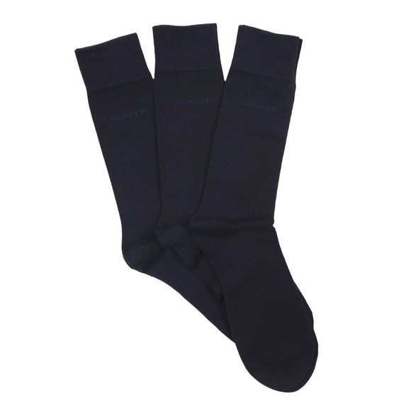 Gant Mens Blue 3 Pack Soft Cotton Socks