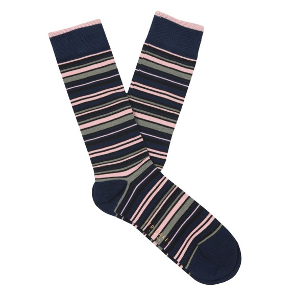 Ted Baker Mens Blue Stripe Sock main image