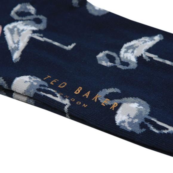 Ted Baker Mens Blue All Over Bird Sock main image