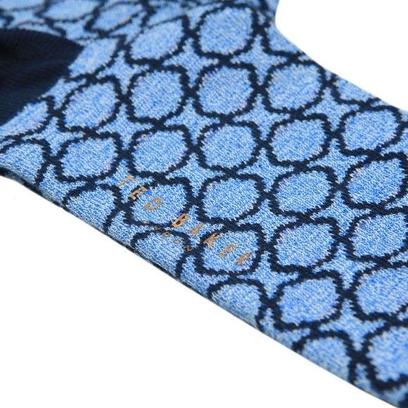 Ted Baker Mens Blue All Over Pattern Sock main image