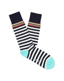 Paul Smith Mens Blue Multi Top Sock