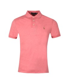 Polo Ralph Lauren Mens Pink Slim Fit Pima Polo Shirt