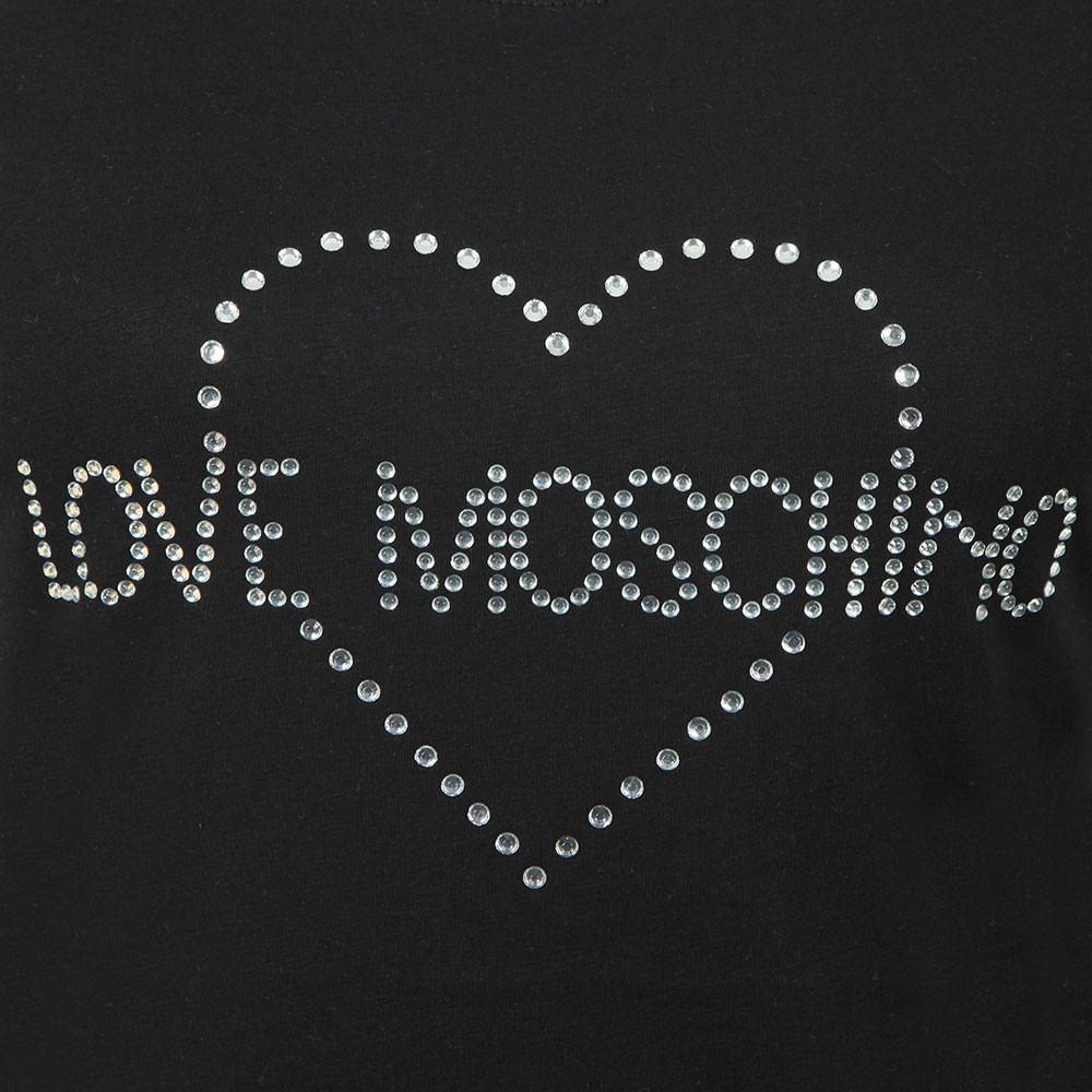 Diamante Heart Logo T Shirt main image