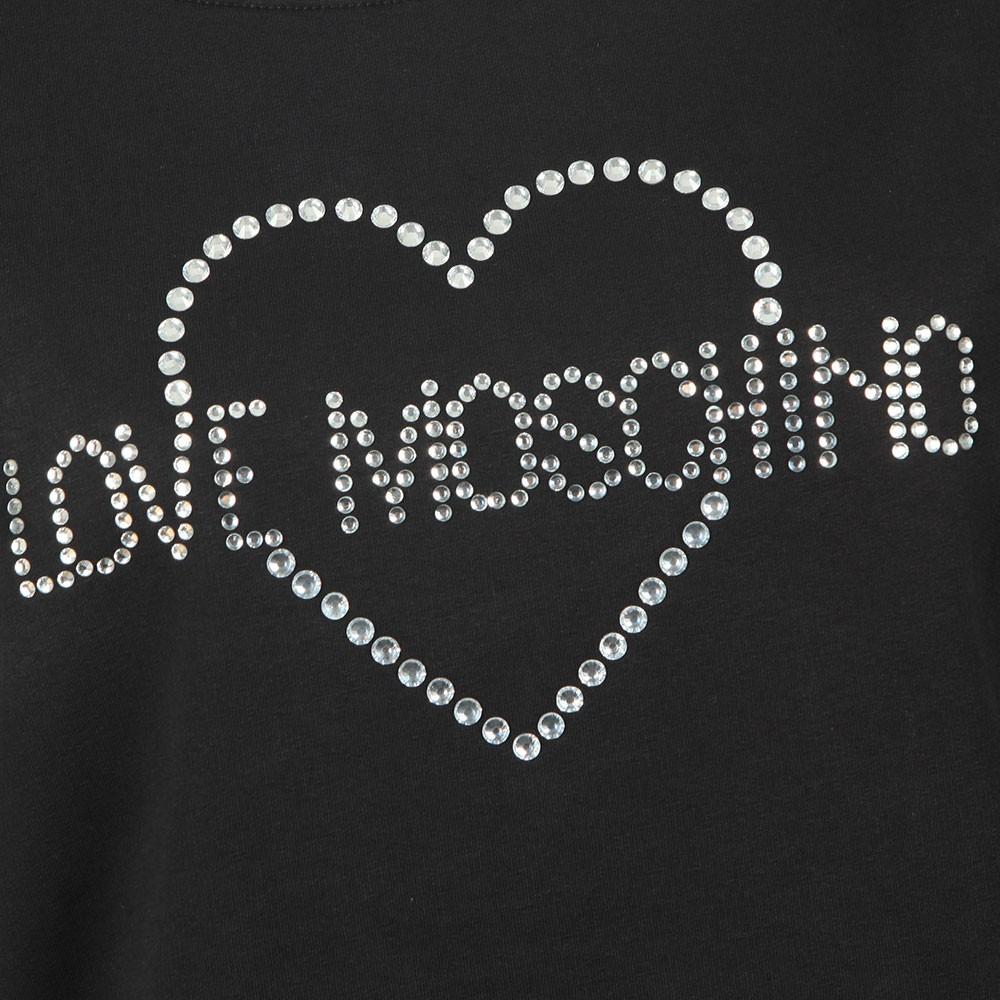 Diamante Heart Logo Sweatshirt main image