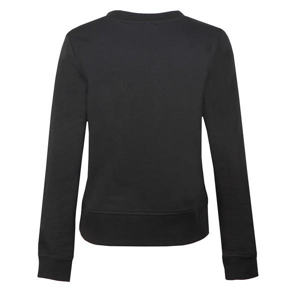 Love Moschino Womens Black Diamante Heart Logo Sweatshirt main image