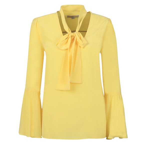Michael Kors Womens Yellow Woven Shirt main image