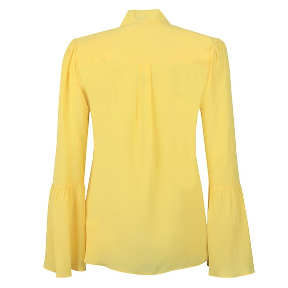 Michael Kors Womens Yellow Woven Shirt