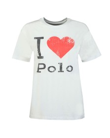 Polo Ralph Lauren Womens White I Love Polo T-Shirt