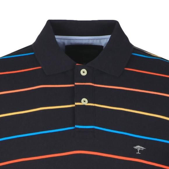 Fynch Hatton Mens Blue Stripe Polo main image