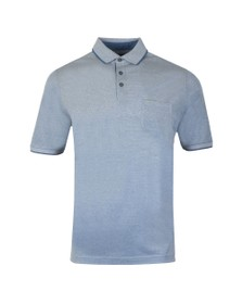 Fynch Hatton Mens Blue Pocket Polo