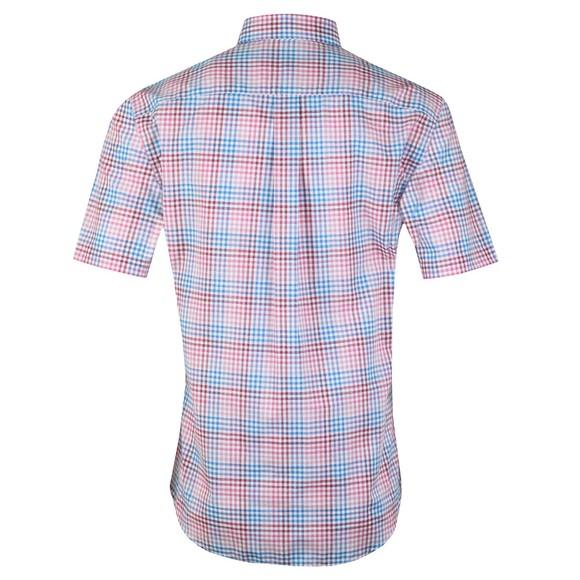 Fynch Hatton Mens Pink S/S Check Shirt main image