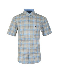 Fynch Hatton Mens Brown S/S Check Shirt