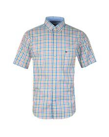 Fynch Hatton Mens Blue S/S Check Shirt