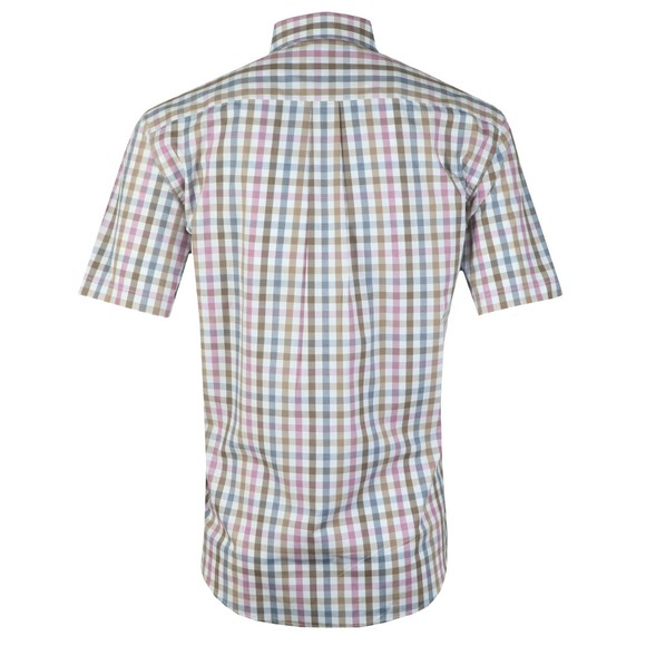Fynch Hatton Mens Blue S/S Check Shirt main image