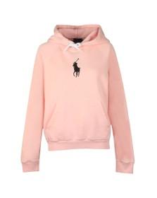 Polo Ralph Lauren Womens Pink Shrunken Overhead Hoody