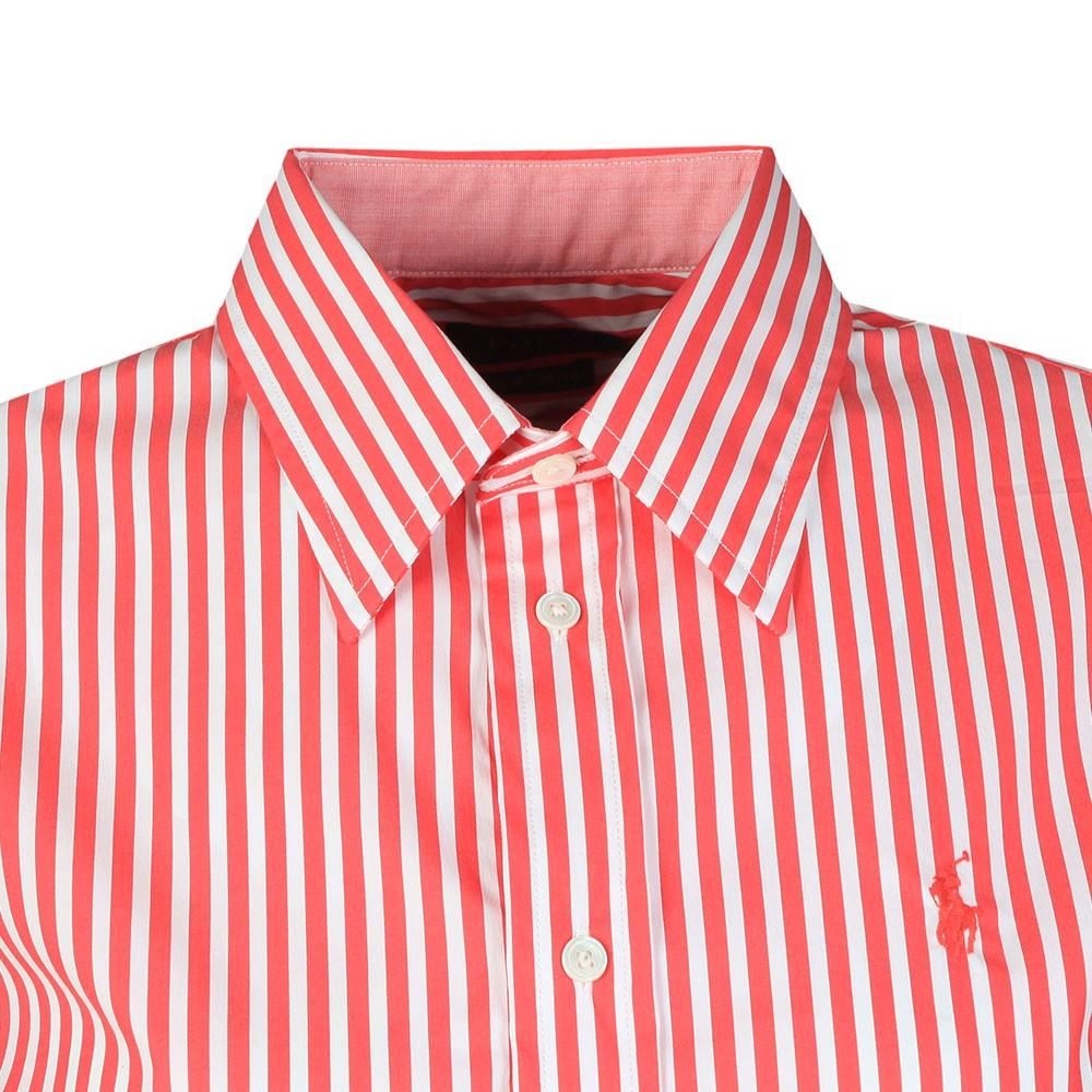 White Multi Stripe Long Sleeve Shirt main image