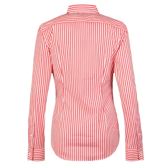 Polo Ralph Lauren Womens Red White Multi Stripe Long Sleeve Shirt main image