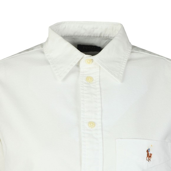 Polo Ralph Lauren Womens White Long Sleeve Pocket Shirt