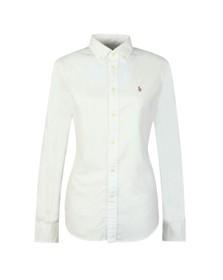 Polo Ralph Lauren Womens White Button Down Oxford Shirt