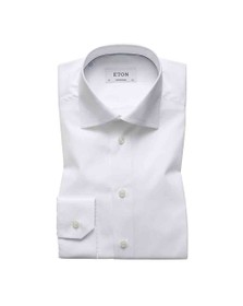 Eton Mens White Contemporary Fit Poplin Shirt