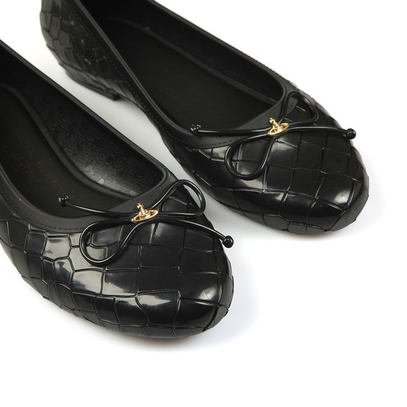 Vivienne Westwood Anglomania X Melissa Womens Black Margot Ballerina Shoe main image