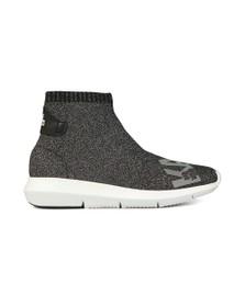 Karl Lagerfeld Womens Silver Vitesse Legere Ankle Boot