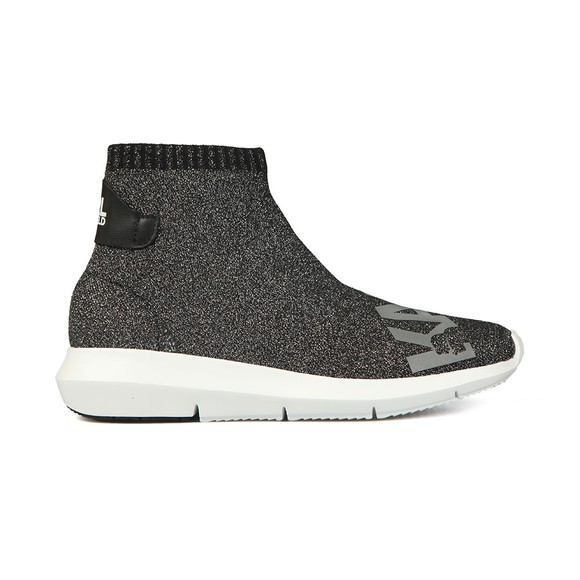 Karl Lagerfeld Womens Silver Vitesse Legere Ankle Boot